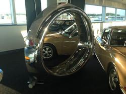 Polished Boeing 737 intake mirror