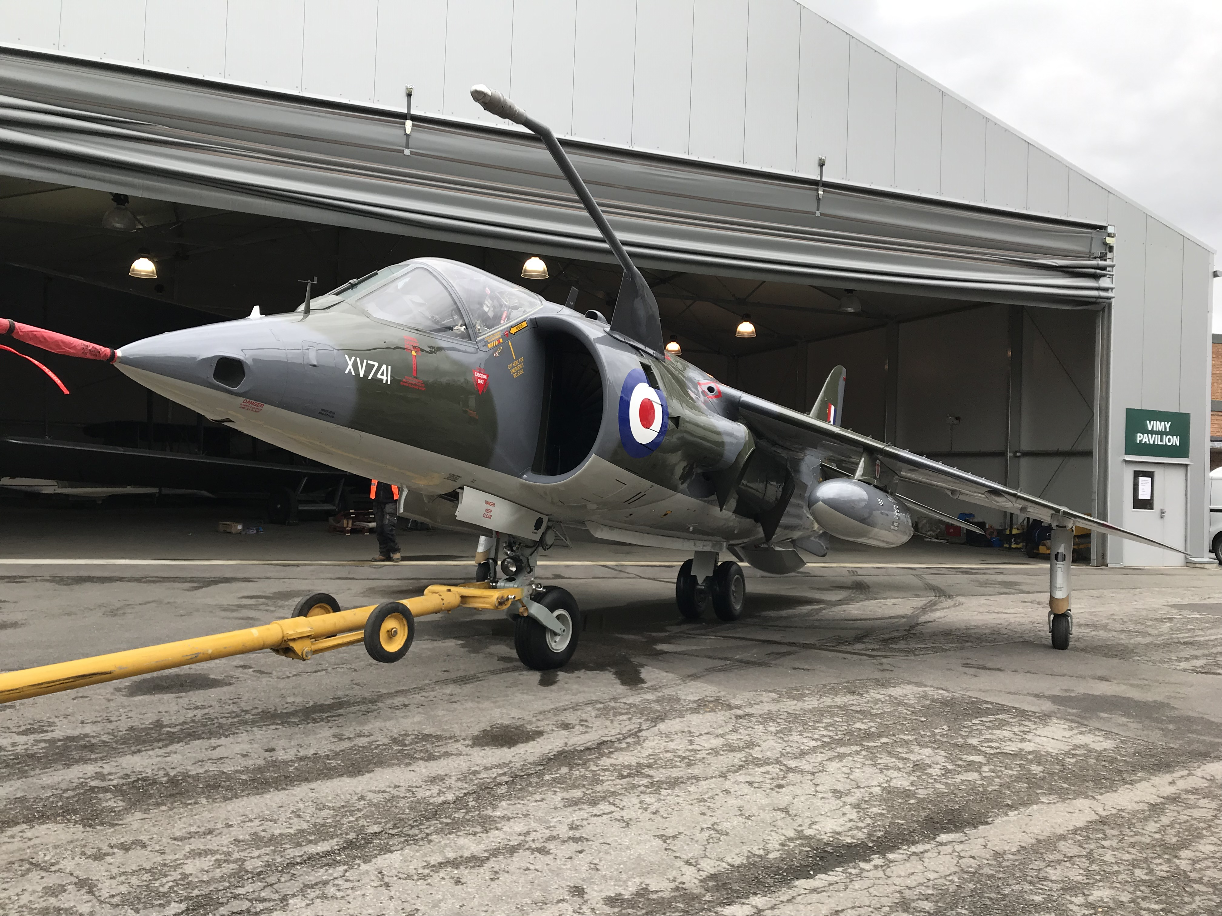 Harrier  XV741 after restoration