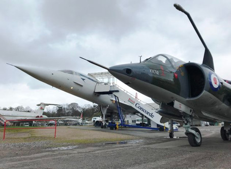 Trans-Atlantic Air Race Harrier XV741 Delivered to Brooklands Museum