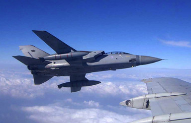 ZD902 TIARA pictured from BAC 11 during surrogate UAV trails