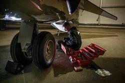 Harrier rebuild at Brooklands Museum
