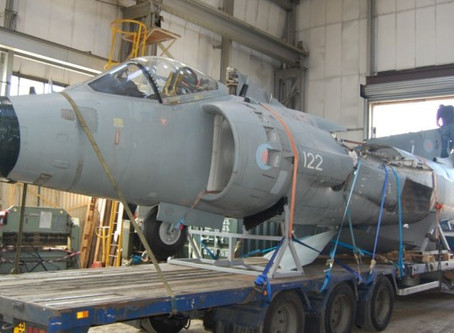 Jet Art Sea Harrier goes Greek