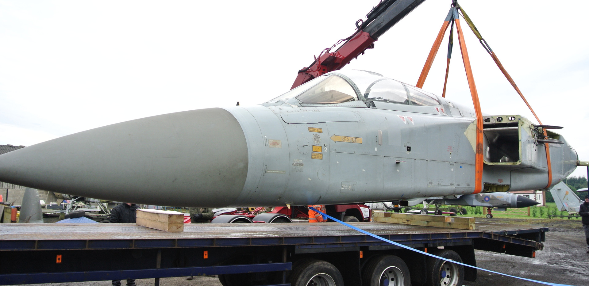 ZD899 Tornado F2 arrives back at Jet Art