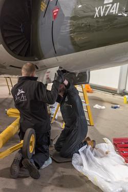 Air Race Harrier rebuild Brooklands M