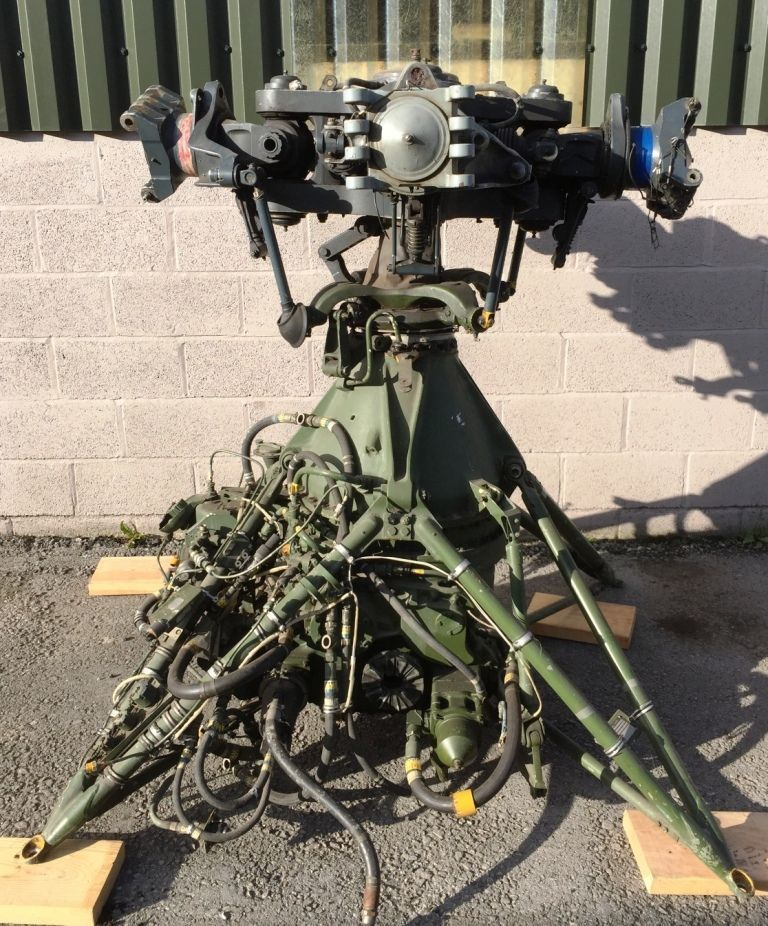 Helicopter Rotor Head and Gear Box