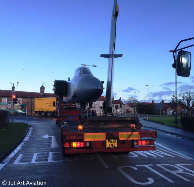 Panavia Tornado FA2 zd902 ADV transported