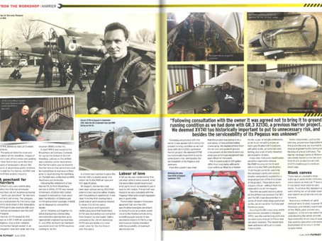 Jet Art appears in Flypast magazine with a workshop piece on Transatlantic Air Race Harrier XV741
