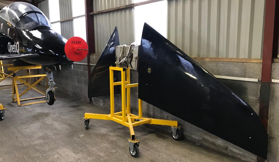 BAe Astra Hawk XX341 Tail plane 2.JPG