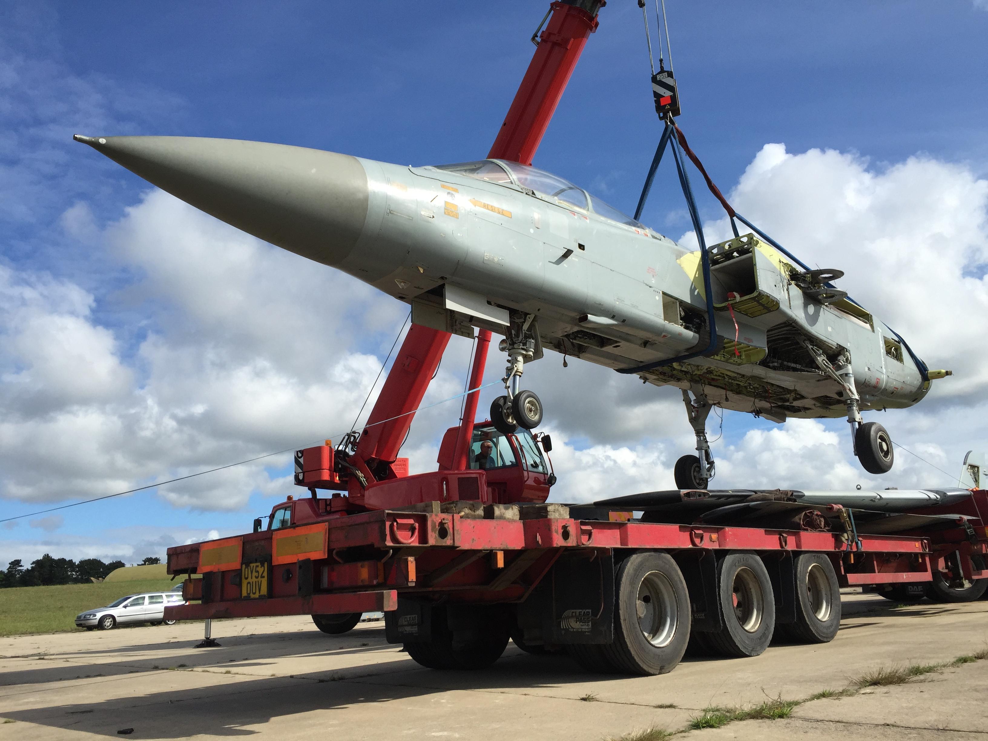 Tornado ADV extraction crane lift