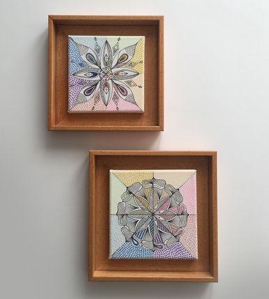 2 painting chakra colors