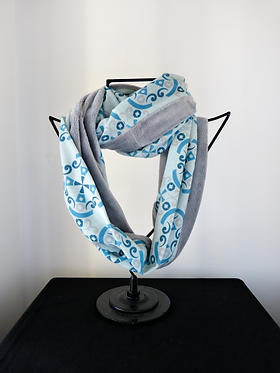 Collar scarf Same Passion Blue