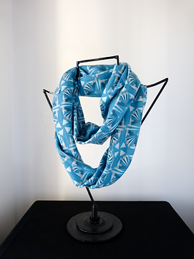 Collar scarf Arrows Mosaic Light Blue