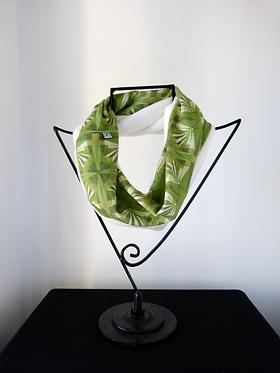 Collar scarf Arrows Mosaics Green