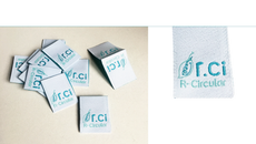 Etiquetas de tecido ou papel