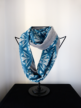 Collar scarf Arrows Blue