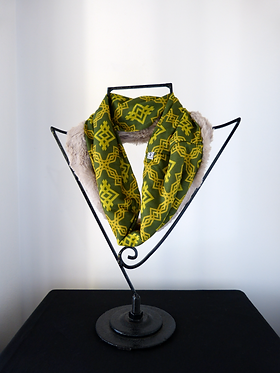 Collar scarf Green and Yellow