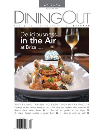 DiningOut Magazine Cover