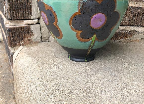 "large blue flower ""Tim"" bowl"