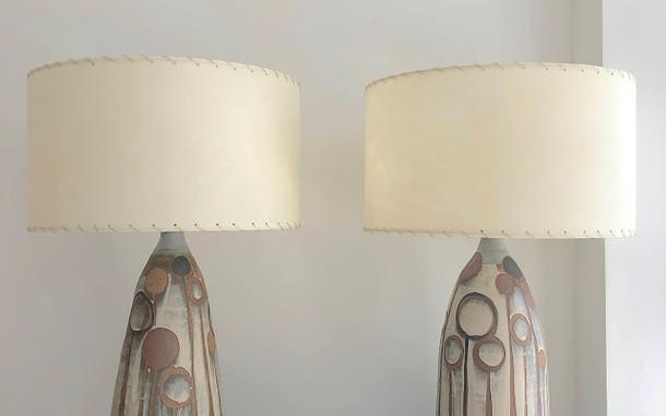 Brown Allium Lamps