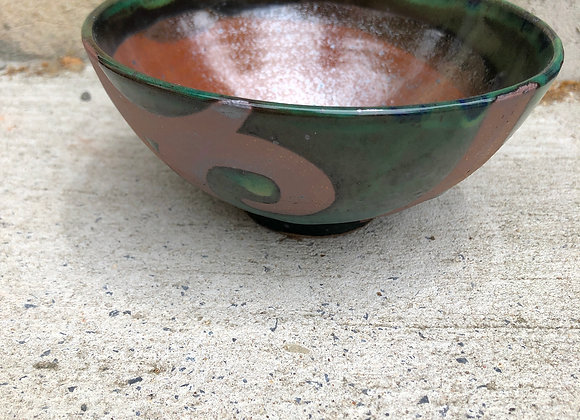 Mason/emerald big swirl little bowl