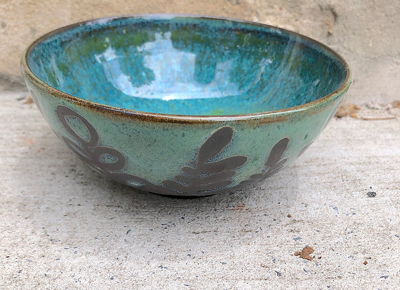 spring/starshine leaf little bowl with 3 dots