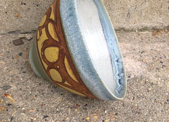 Satin white interior loop Tim bowl