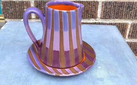 Purple and Mauve Stripe Mug