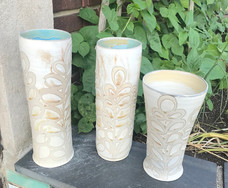 White Swirl Vase