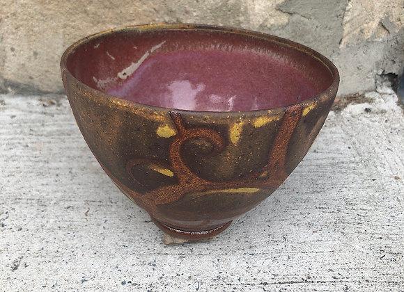 mauve swirl little tim bowl