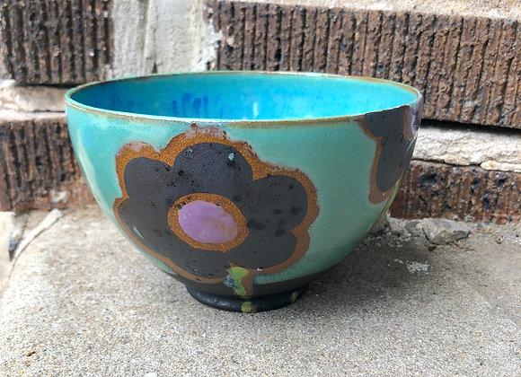 blue flower everything bowl