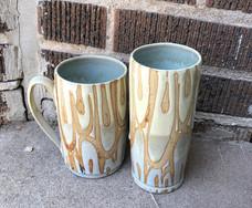 White Loop Mugs