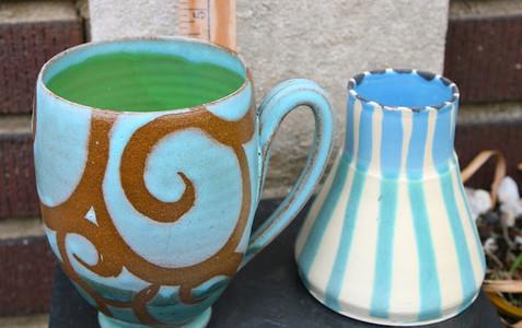 Blue Swirl Mugs