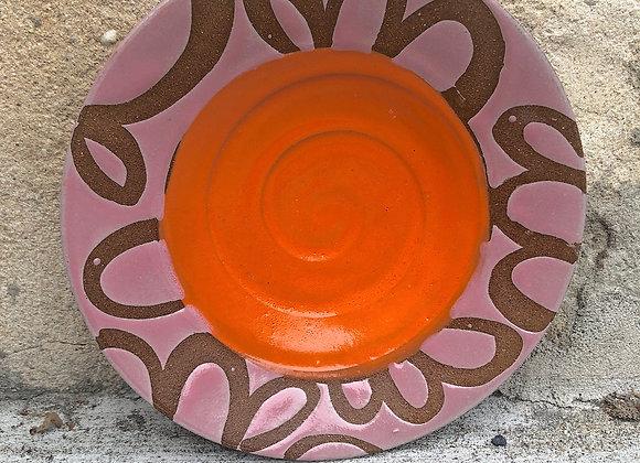 orange/pink tapas plate