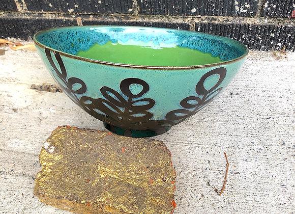Not insane, but still big, leaf serving bowl