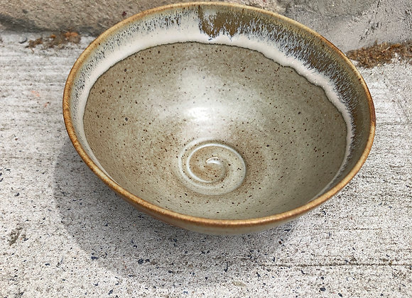 Quiet stoneware dot bowl