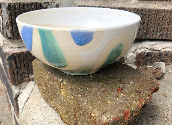 cream interior starshine/periwinkle loopy bowl