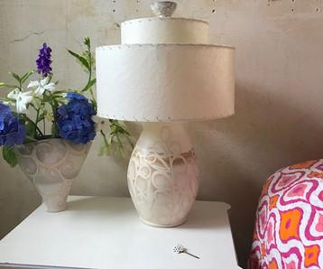 White Swirl Lamp