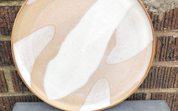 White and Tan Plate