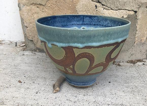 drippy loopy blue interior tim bowl