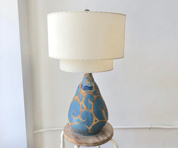 Blue Swirl Lamp