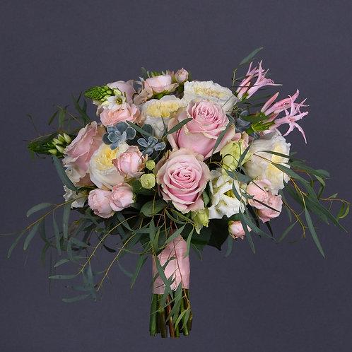 Свадебный букет с пионовидными розами №32