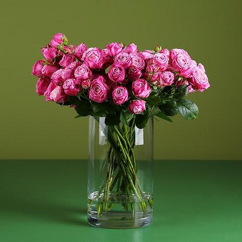 21 роза Леди Бомбастик в вазе