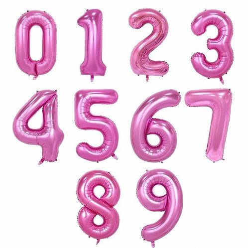 Воздушные шары Цифры Розовый