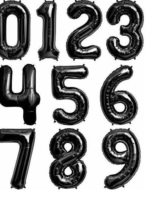 Воздушные шары Цифры Черный