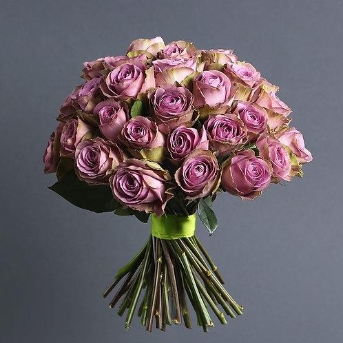 Букет из 45 фиолетовых роз