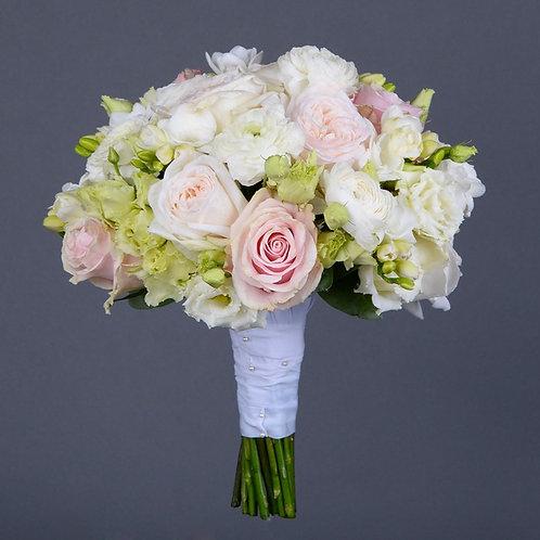Свадебный букет с ранункюлясами и розами №77