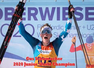 Gus Schumacher 2020 Junior World Champion