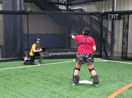 Indoor softball netting