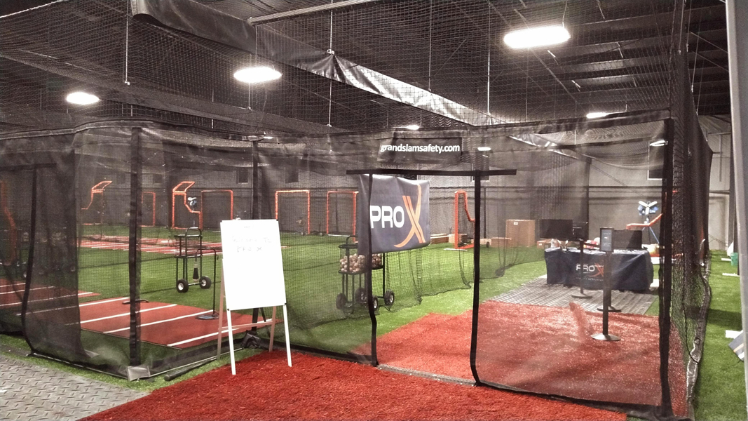 Multiple Batting Cage Setup