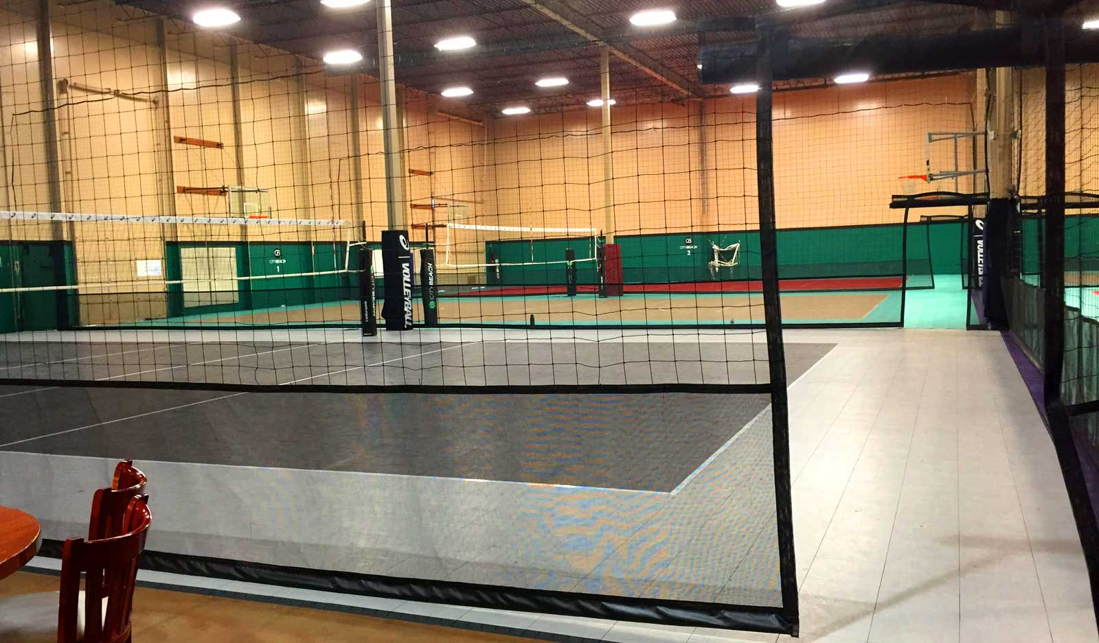 Volleyball containment